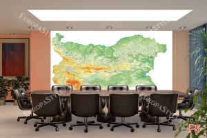 Фототапети пътна карта на България