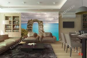 Фототапет старинна арка на морски бряг