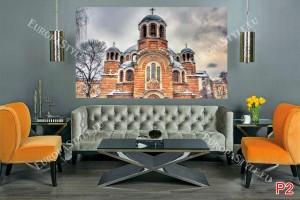 Фототапети храм в София зимен изглед