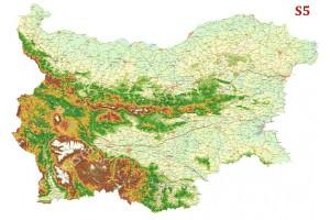 Фототапет подробна селищна пътна карта на България