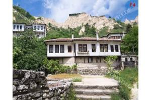 Фототапет български стари къщи панорама от Мелник