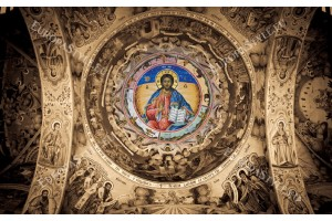 Фототапет църковни стенописи в християнска църква