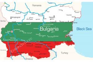 Фототапет карта на България трибагреник