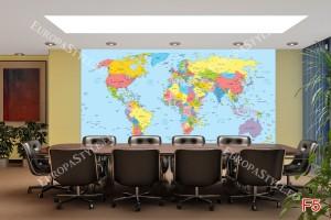 Фототапет политическа карта на света