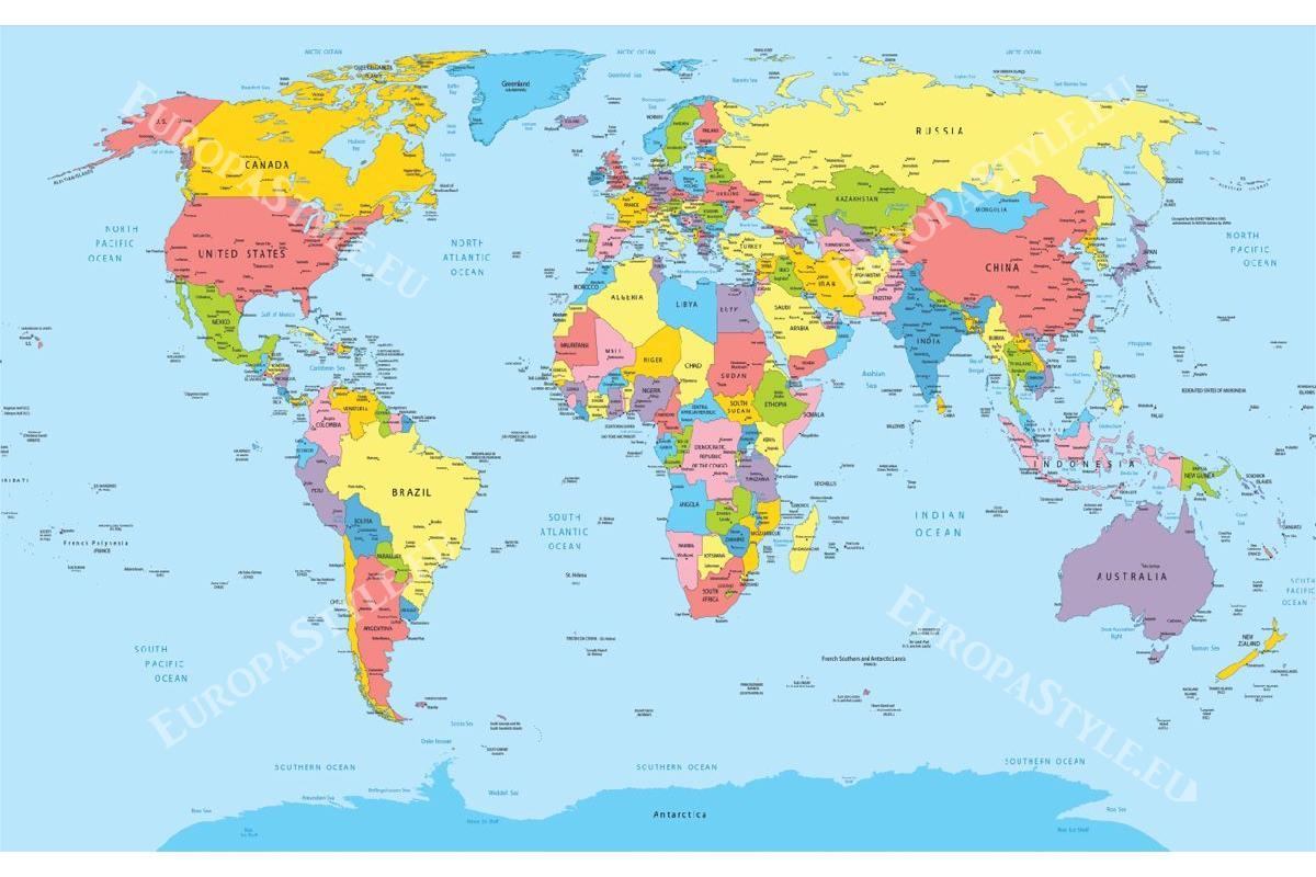 Bedroom Wallpaper World Map