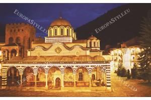Фототапети нощен изглед на Рила манастир