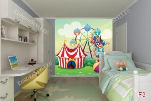 Фототапети детски цирк и палячо