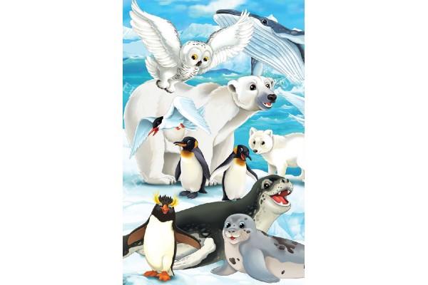 Фототапети детски и пингвини и бяла мечка