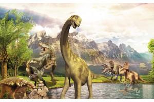 детски фототапет с динозаври