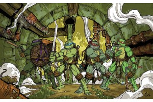 Фототапет костенурките нинджа - анимация