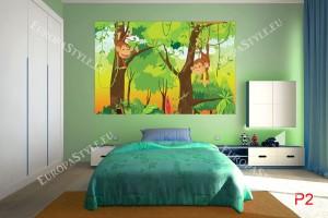 Фототапет маймунки в джунгла