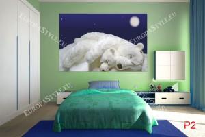 Фототапет спящи бели мечки