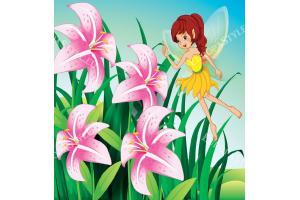 Фототапети рисуван с малка фея