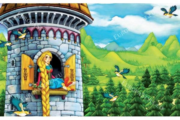 Фототапет анимация Рапунцел в кулата