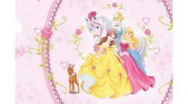 фототапет принцесите на Дисни в декоративна рамка