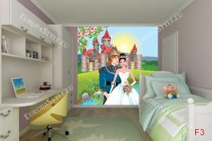 Фототапет принцеса и замък