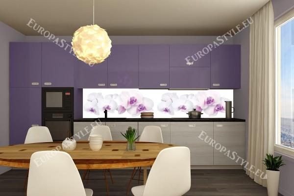 Фотопринт за кухня ред бели орхидеи с розов оттенък