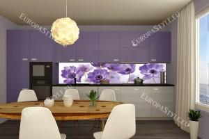 Фотопринт за кухня полски лилави цветя