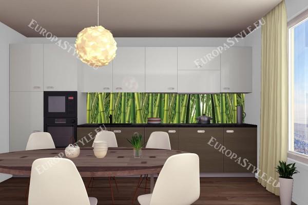 Фотопринт за кухня зелен бамбук