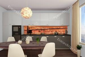 Фотопринт за кухня мост в оранжево