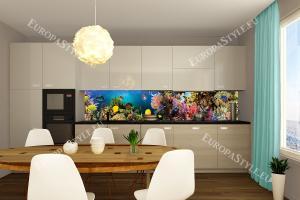 Фотопринт за кухня водно дъно рибки