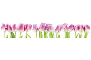 Фотопринт за кухня с розови лалета