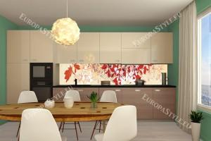 Фотопринт за кухня арт листа оранжева гама
