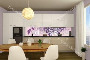 Фотопринт за кухня арт листа лилава гама