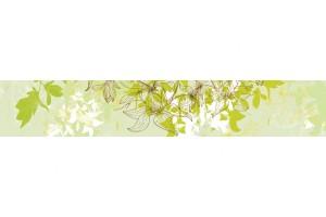 Фотопринт за кухня арт листа зелена гама