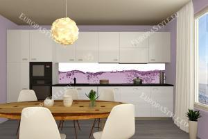 Фотопринт за кухня с водни розови капки