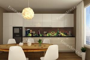 Фотопринт за кухня композиция вино и грозде кафяв фон