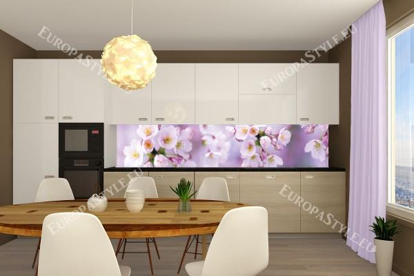 Фотопринт за кухня пролетен цвят в розово