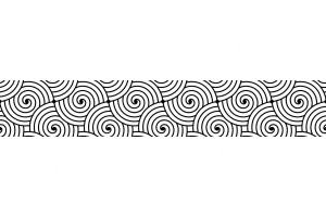 Фотопринт за кухня графика черно и бяло