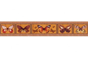 Фотопринт за кухня пеперуди оранжева гама