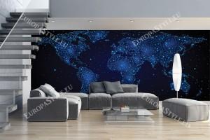 Фототапет макси размер карта на света от космически звезди