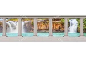 Фототапети макси размер красиви водопади с колони