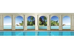 Фототапети макси колони с вода изглед море остров