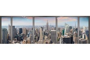 Фототапети макси размер изглед Ню Йорк през прозорец