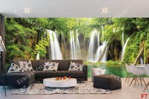 Фототапети макси размер горски водопад завеса