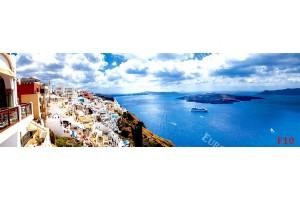 maxi прекрасна панорама Санторини сгради и море