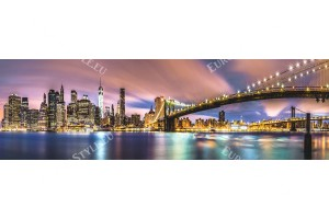 макси изглед към морето крайбрежие на Ню Йорк с мост