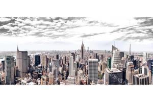 Фототапети макси панорамна гледка от Ню Йорк сиво небе
