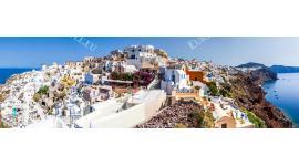 Фототапет панорамен пейзаж от остров Санторини макси размер