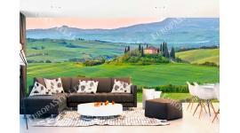 Фототапет макси размер пейзаж с полета в Тоскана