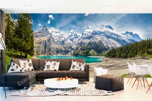 Фототапет макси размер прекрасен планински пейзаж с езеро