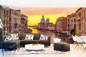 Фототапет нощен изглед Гранд канал във Венеция голям размер