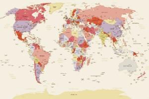 Фототапети Карти на света